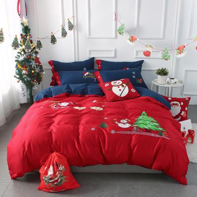 2019圣诞款贴布绣四件套 1.2m床单款 圣诞款