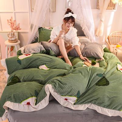 2019新款韩版魔法绒印花四件套 1.5-1.8m床单款 青春