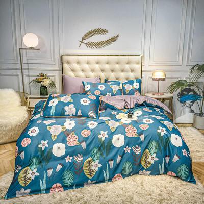 2020新款天丝绸印花四件套 床单款(1.5-1.8米床)被套四件套 迷迭花香