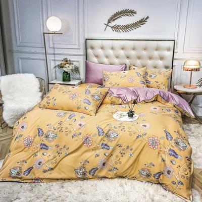 2020新款天丝绸印花四件套 床单款(1.5-1.8米床)被套四件套 茉莉花香
