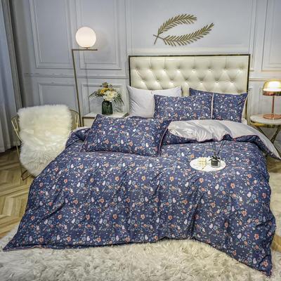 2020新款天丝绸印花四件套 床单款(1.5-1.8米床)被套四件套 普拉梦-灰