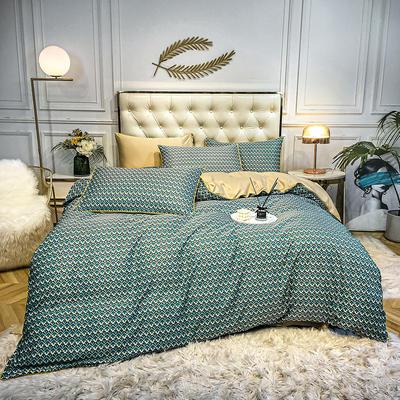 2020新款天丝绸印花四件套 床单款(1.5-1.8米床)被套四件套 雀羽