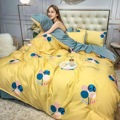 2020新款天丝绸印花四件套 床单款(1.5-1.8米床)被套四件套 依梦园