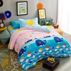 2016年新品全棉三件套 1.0m(3.3英尺)床 简约格调-星星