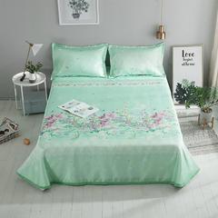 映爽家纺  冰丝凉席可折叠水洗软席 1.5m(5英尺)床 初暖花开