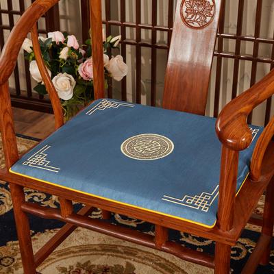 2020新款冰丝印花坐垫系列 中式太师椅坐垫 45x40x3cm 富贵兰