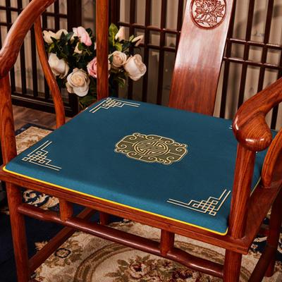 2020新款 麻布印花坐垫系列 太师椅垫 富贵福禄 45x40x3cm 福禄-兰