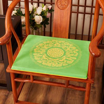 2020新款绒布印花坐垫系列 吉祥如意 45x40x3cm 绒布-如意亮绿