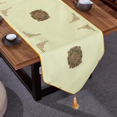 2020新款麻布印花桌旗 180x33cm 福禄-米