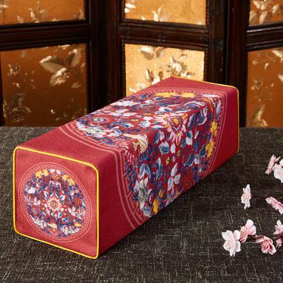 2020新款扶手枕系列 50*15*15cm 双鱼团花-红