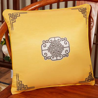 2020新款冰丝双面印花抱枕系列 45x45cm(含芯) 双面冰丝款-福禄黄