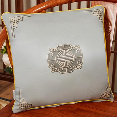 2020新款冰丝双面印花抱枕系列 45x45cm(含芯) 双面冰丝款-福禄灰色