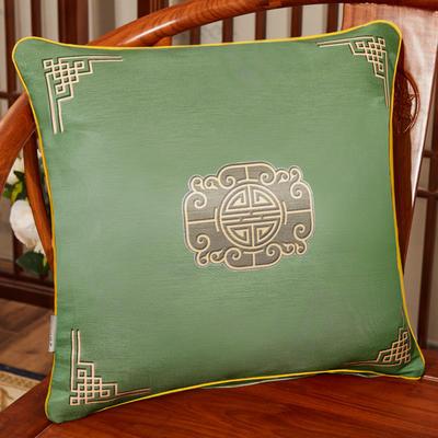2020新款冰丝双面印花抱枕系列 45x45cm(含芯) 双面冰丝款-福禄墨绿