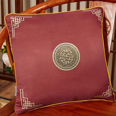 2020新款冰丝双面印花抱枕系列 45x45cm(含芯) 双面冰丝款-富贵红