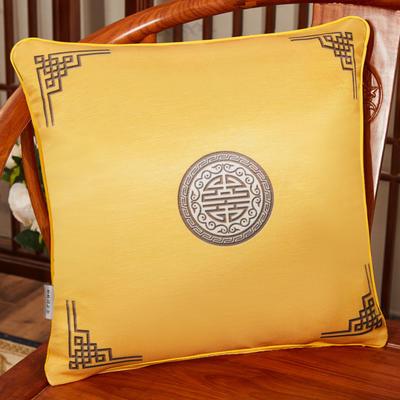 2020新款冰丝双面印花抱枕系列 45x45cm(含芯) 双面冰丝款-富贵黄