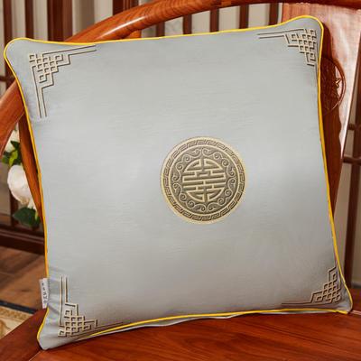 2020新款冰丝双面印花抱枕系列 45x45cm(含芯) 双面冰丝款-富贵灰色