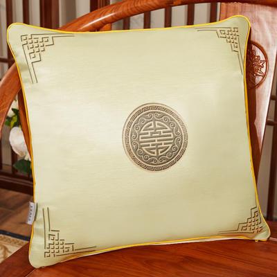 2020新款冰丝双面印花抱枕系列 45x45cm(含芯) 双面冰丝款-富贵米色
