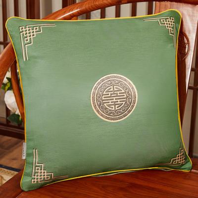 2020新款冰丝双面印花抱枕系列 45x45cm(含芯) 双面冰丝款-富贵墨绿