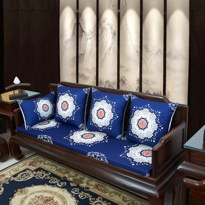 2020新款麻布印花沙发垫 花团锦簇 每平方(单套子,不含海绵) 中式-福