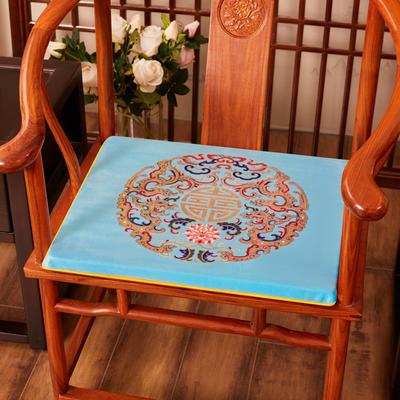 2020新款绒布印花坐垫系列-吉祥如意 45x40x3cm 绒布-吉祥亮蓝