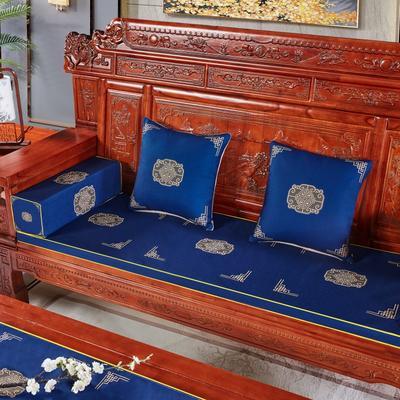 2020新款中式沙发垫 每平方(单套子,不含海绵) 福禄藏蓝