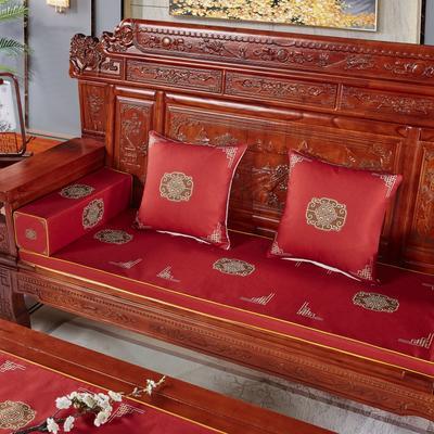 2020新款中式沙发垫 每平方(单套子,不含海绵) 福禄红