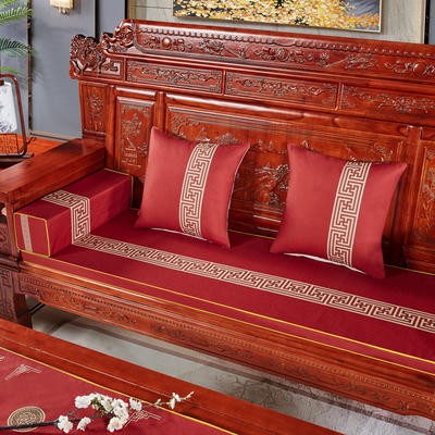2020新款中式沙发垫 (2) 每平方(单套子,不含海绵) 回纹花-红