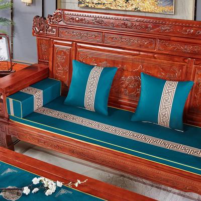 2020新款中式沙发垫 (2) 每平方(单套子,不含海绵) 回纹花-兰