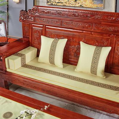 2020新款中式沙发垫 (2) 每平方(单套子,不含海绵) 回纹花-米色