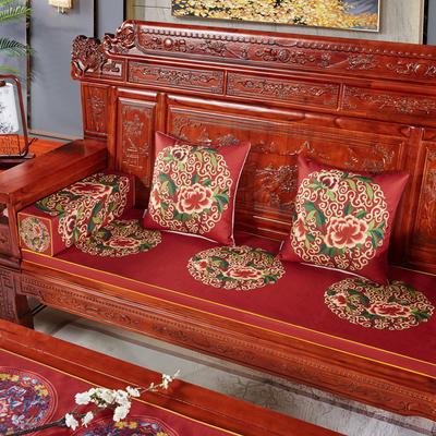 2020新款中式沙发垫(3) 每平方(单套子,不含海绵) 花好月圆