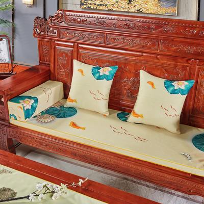 2020新款中式沙发垫(3) 每平方(单套子,不含海绵) 鲤跃龙门