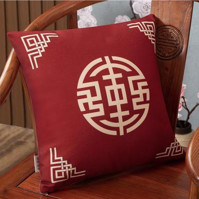 2020新款麻布印花抱枕系列(2) 45x45cm(不含芯) 锦绣-红