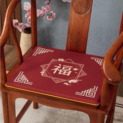 2020新款麻布印花坐垫系列(2) 45x40x3cm 福星高照-红