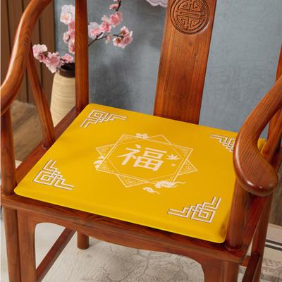 2020新款麻布印花坐垫系列(2) 45x40x3cm 福星高照-黄