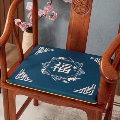 2020新款麻布印花坐垫系列(2) 45x40x3cm 福星高照-兰
