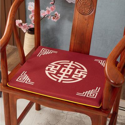 2020新款麻布印花坐垫系列(2) 45x40x3cm 锦绣-红