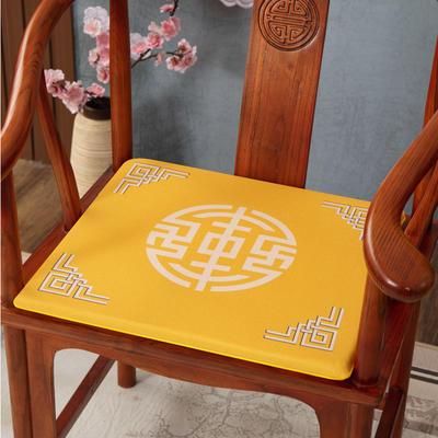 2020新款麻布印花坐垫系列(2) 45x40x3cm 锦绣-黄