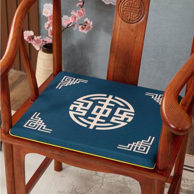 2020新款麻布印花坐垫系列(2) 45x40x3cm 锦绣-兰