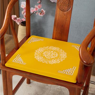 2020新款麻布印花坐垫系列(2) 45x40x3cm 五福临门-黄