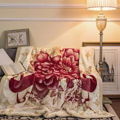 凯轩毛毯, 西班牙盖毯,保暖毯,毛毯,婚庆毯,礼品毯, 200*230 迎春蔓