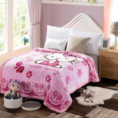 凯轩毛毯 4斤超柔拉舍尔学生毛毯,保暖毯,礼品毯, 150cm*200cm KT猫-粉色