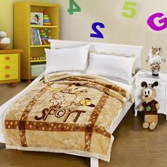 凯轩毛毯 4斤超柔拉舍尔学生毛毯,保暖毯,礼品毯, 150cm*200cm 史努比(浅棕)