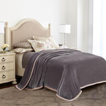 凯轩毛毯,绒毯系列 纯色双层法兰绒,毛毯,保暖毯,宾馆酒店毛毯,