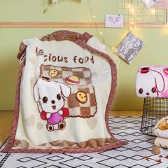 凯轩毛毯 儿童拉舍尔毛毯,保暖毯,毛毯, 105cm*135cm 呆萌(驼)