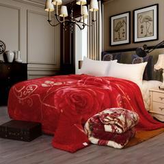 凯轩毛毯, 双人拉舍尔毛毯,保暖毯,婚庆毯,毛毯,精品毯, 180cm*220cm 花嫁喜事