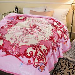 凯轩毛毯 ,超柔,云毯, 西班牙盖毯,保暖毯,毛毯,精品毯,婚庆毯 200cmx230cm 粉色之恋