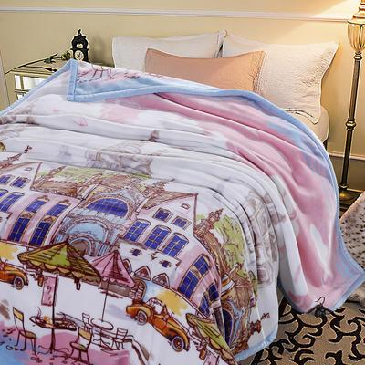 超柔,云毯, 西班牙盖毯,保暖毯,毛毯,精品毯,婚庆毯 200cmx230cm 浪漫情怀