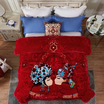 凯轩毛毯, 安哥拉精品毯,婚庆毯,云毯,保暖毯, 200cmx230cm 与子偕老