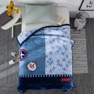 云毯系列 单人云毯,毛毯,保暖毯,学生毯, 150cm*200cm 时光旅行