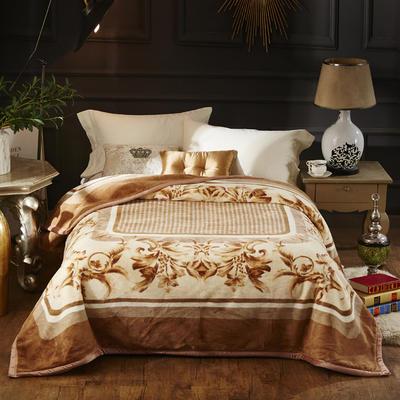 2019新款仿羊毛毯阿尔巴卡毯,云毯,精品毯,高档毛毯,婚庆毯, 200cmx230cm 奥兰帝